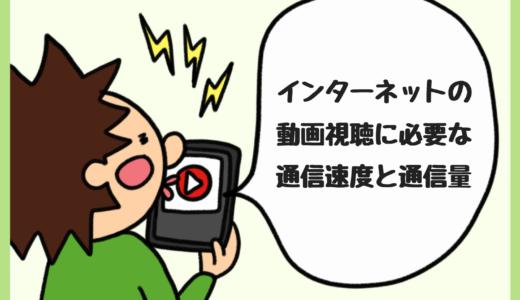 インターネットの動画視聴に必要な通信速度とデータ通信量。