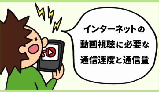 インターネットの動画視聴に必要な通信速度とデータ通信量