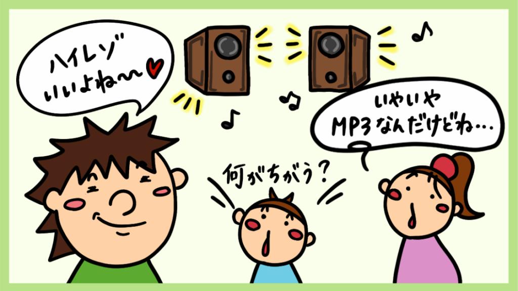 音楽の音質の違い