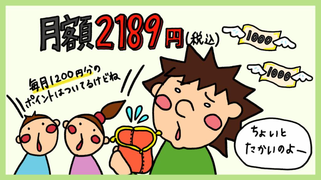 月額料金2189円は高い