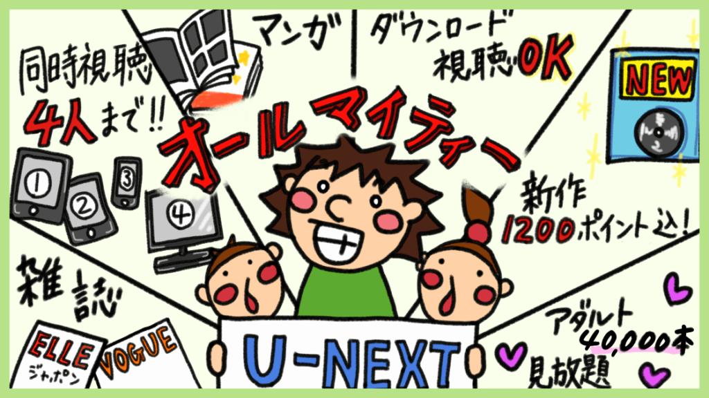 U-NEXTの口コミ評判
