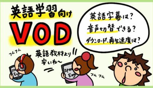 英語学習にオススメの動画配信サービス。英語字幕、英語機能の違い。